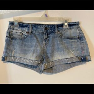 PINK VICTORIA SECRET DISTRESSED JEAN SHORTS